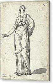 Jacques-louis David, Woman From The Villa Pamphili Acrylic Print