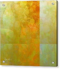 Jade And Carnelian Abstract Art  Acrylic Print by Ann Powell