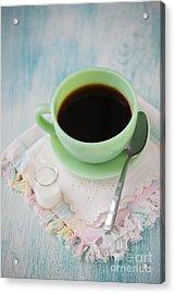 Jadite Coffee Cup Acrylic Print by Kay Pickens