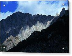 Jagged Mountains Of Banff National Acrylic Print