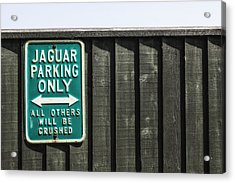 Jaguar Car Park Acrylic Print by Joana Kruse
