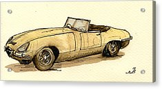 Jaguar E Type Cabrio Acrylic Print