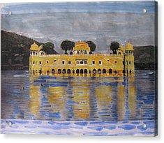 Acrylic Print featuring the painting Jai Mahal by Vikram Singh