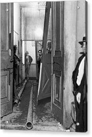 Jail After Lynch Mob Breaks In Acrylic Print by Underwood Archives