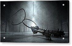 Jail Break Keys And Prison Cell Acrylic Print by Allan Swart