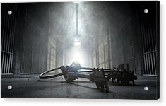 Jail Corridor And Keys Acrylic Print