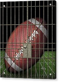 Jailed Football Acrylic Print by James Larkin