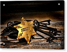 Jailer Tools Acrylic Print by Olivier Le Queinec