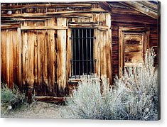 Acrylic Print featuring the photograph Jailhouse In Bodie State Park California by Mary Bedy