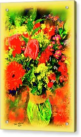 Acrylic Print featuring the painting J'aime Le Bouquet by Ted Azriel