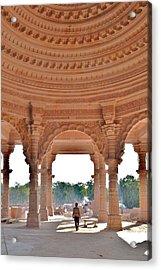 Jain Temple Entrance - Amarkantak India Acrylic Print by Kim Bemis