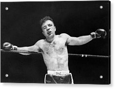 Jake raging Bull Lamotta Acrylic Print by Underwood Archives