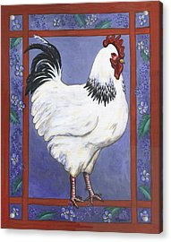 Jake The Rooster Acrylic Print by Linda Mears
