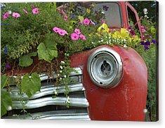Jalopy Garden Acrylic Print