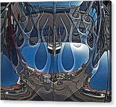 Jalopy Hood Reflections Acrylic Print