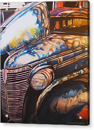Jalopy Acrylic Print by Kathleen Bischoff