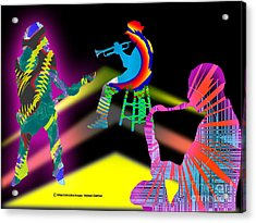 Jam Session Acrylic Print by Michael Chatman