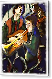 Acrylic Print featuring the digital art Jam Session by Ted Azriel