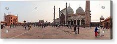 Jama Masjid Mosque, New Delhi, India Acrylic Print by George Pachantouris