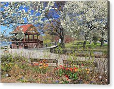 Jamaica Pond Boston In Spring Acrylic Print