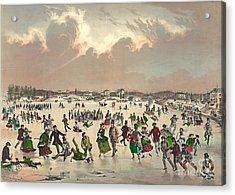 Jamaica Pond Massachusetts 1859 Acrylic Print