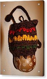 Jamaican Coconut And Crochet Shoulder Bag Acrylic Print by MOTORVATE STUDIO Colin Tresadern