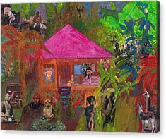 Acrylic Print featuring the mixed media Jamaican Holiday by Catherine Redmayne