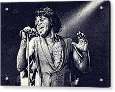 James Brown On Stage Acrylic Print