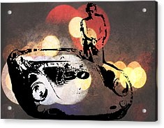 James Dean And Little Bastard Acrylic Print