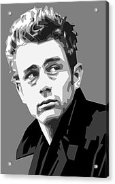 James Dean In Black And White Acrylic Print
