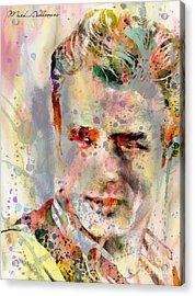 James Dean Acrylic Print by Mark Ashkenazi