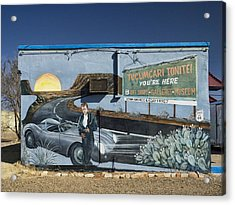 James Dean Mural In Tucumcari On Route 66 Acrylic Print by Carol Leigh