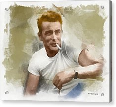 James Dean Acrylic Print by Paulette B Wright