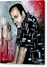 Acrylic Print featuring the painting James Gandolfini As Tony Soprano by Patrice Torrillo