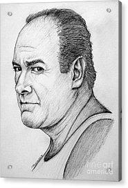 Acrylic Print featuring the drawing James Gandolfini by Patrice Torrillo
