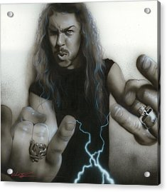 'james Hetfield' Acrylic Print by Christian Chapman Art