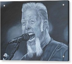 James Hetfield Metallica Acrylic Print by David Dunne
