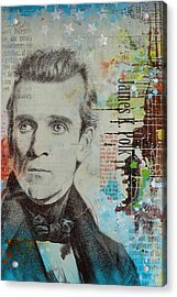 James K. Polk Acrylic Print by Corporate Art Task Force