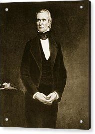 James K Polk  Acrylic Print by George Healy