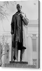 James M Sims State Capitol Bw Acrylic Print by Lesa Fine