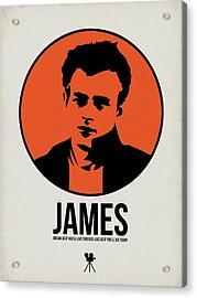James Poster 1 Acrylic Print by Naxart Studio