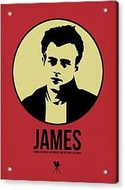 James Poster 2 Acrylic Print by Naxart Studio