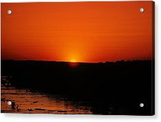 Acrylic Print featuring the photograph James River Sunset by John Harding