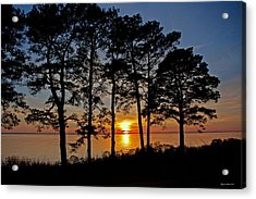 James River Sunset Acrylic Print by Suzanne Stout