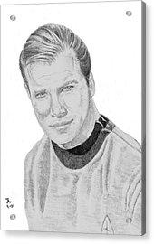 James Tiberius Kirk Acrylic Print by Thomas J Herring