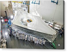 James Webb Space Telescope Sunshield Acrylic Print