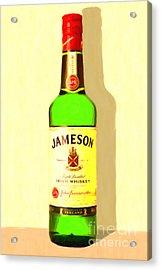 Jameson Irish Whiskey 20140916 Painterly V1 Acrylic Print by Wingsdomain Art and Photography