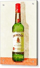 Jameson Irish Whiskey 20140916wc Acrylic Print by Wingsdomain Art and Photography