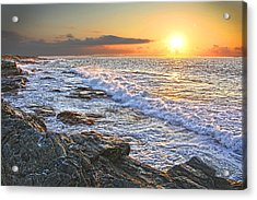 Jamestown Surf At First Light Acrylic Print by Richard Trahan