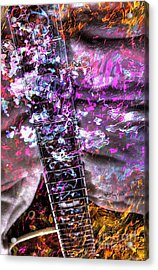 Jammin Out Digital Guitar Art By Steven Langston Acrylic Print by Steven Lebron Langston